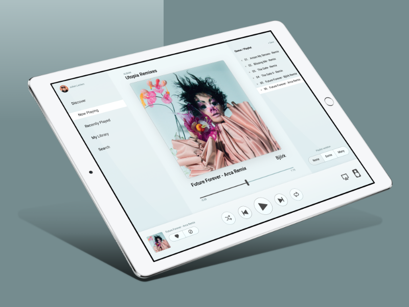Youbox frost nowplaying ipad 800