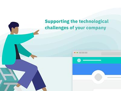 Hackages Business ibm plex humaaans svg landing page responsive web