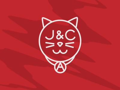 Cat Logo cat logo logo thick lines lines illustration ears custom type typography cats cat