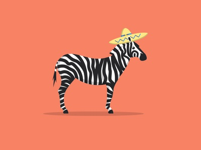 Party Animal sombrero stripes horse zebra