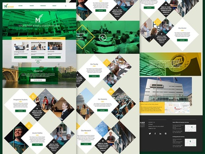 GMU Homepage concept content ux ui web layout typography interactive