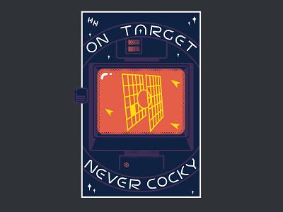Stay On Target custom type target millennium falcon illustration vector ui star wars
