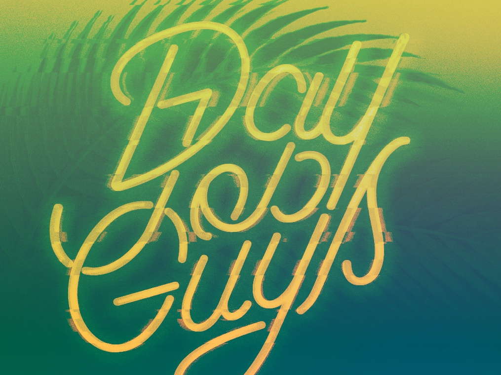 Day Job Guys Remix jungle glitch neon typography vectors vector illustration