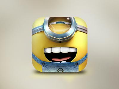 Minion App Icon minion app icon ios despicable fluffy face 3d yellow despicable me