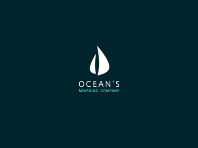 Ocean's sailboat ocean boarding travel flat