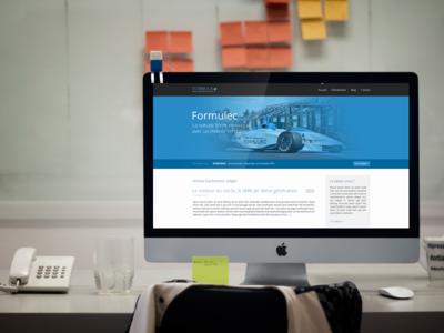 Formula E web template homepage formula1