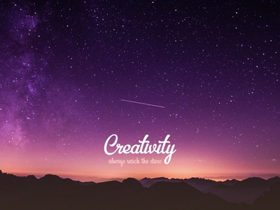 Creativity book unsplash stars universe
