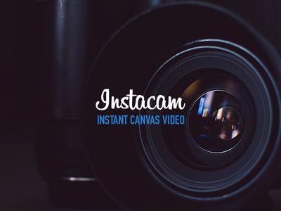 Instacam brand web design logo unsplash github module npm es6 webpack webcam video javascript development canvas camera