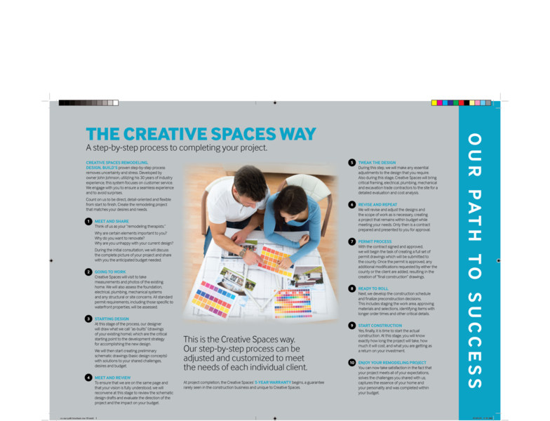 Creative Spaces Brochure and Postcards branding graphic design print design print