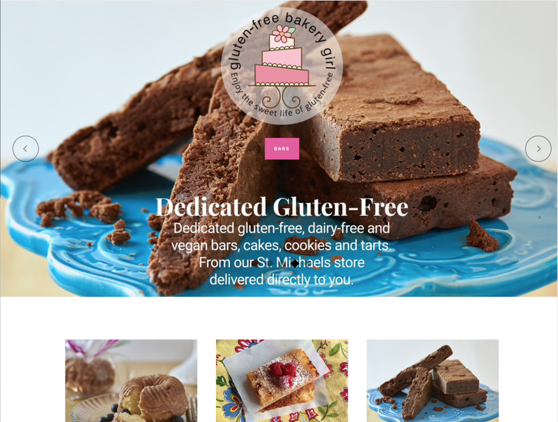 Gluten-Free Bakery Girl E-Commerce Website website web design design graphic design
