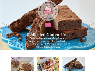 Gluten-Free Bakery Girl E-Commerce Website website web design design graphic design