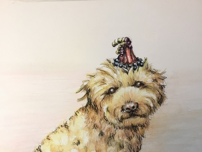 Watercolor Paintings of Pets design illustration