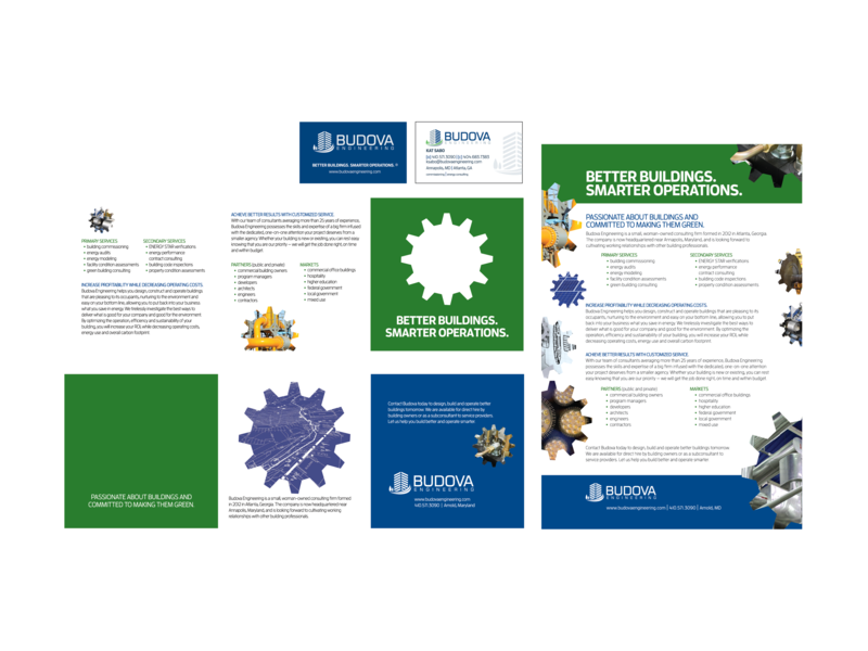 Budova Engineering Brochures and Business Cards branding graphic design design print design print