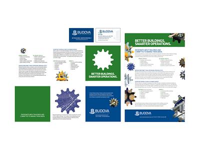 Budova Engineering Brochures and Business Cards branding graphic design design print design print