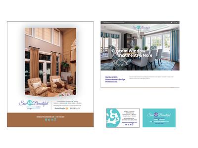 Sew Beautiful Windows Branding, Logo, Website, Print web design website branding design graphic design print print design logo design logo