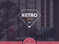 Retro jam behance presentation