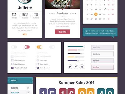 Retro Jam Ui Kit Free blog psd freebie ui interface web kit profile retro webdesign menu calendar