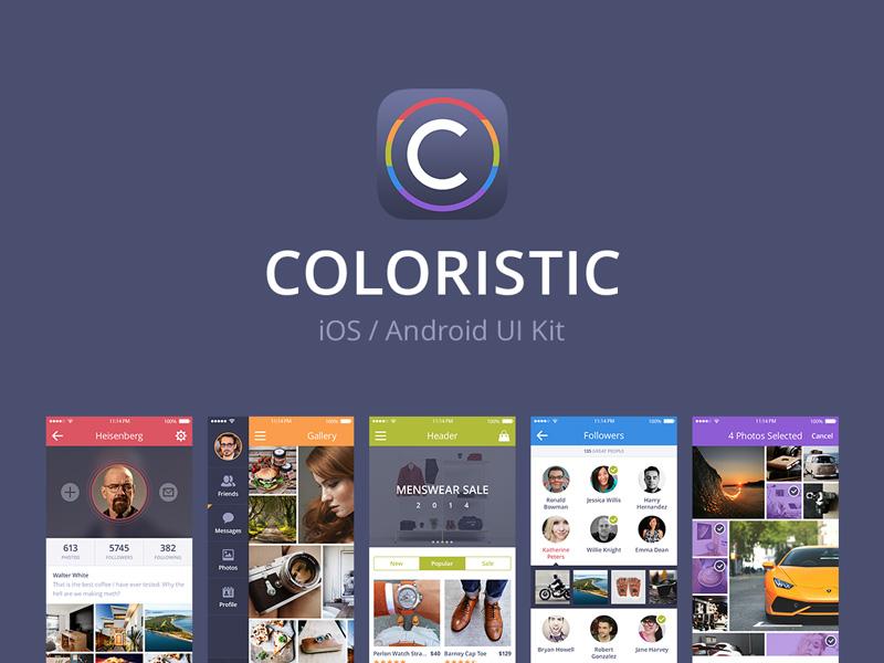 Coloristic UI Kit ui ui kit interface ios android logo