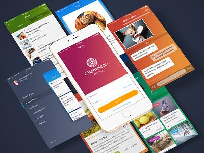 Chameleon Freebie ui ui kit user interface mobile ecommerce app ios iphone free freebie sketch psd