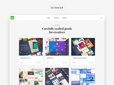 UI Chest 2.0 redesign web design sketch ui kit ui