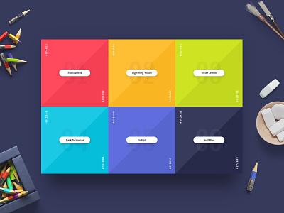 Magic Stone: Color Palette colorful color palette colors ui kit ui mockup