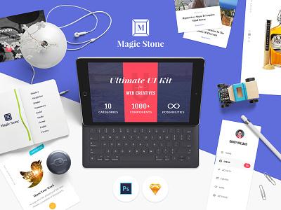 Magic Stone for Photoshop components psd sketch photoshop mockup user interface ui kit ui