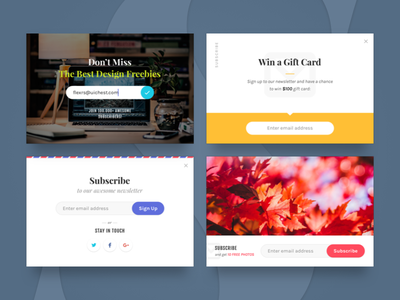Magic Stone: Subscribe Widgets promo forms subscribe widgets freebie free psd sketch ui kit ui