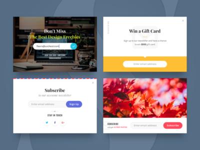 Magic Stone: Subscribe Widgets promo forms subscribe widgets freebie free psd sketch ui kit ui