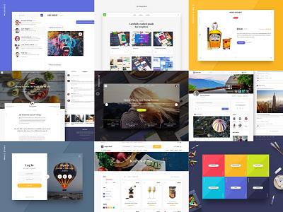 The Best Nine of 2016 colorful ecommerce ui kit best shots interface ui best nine
