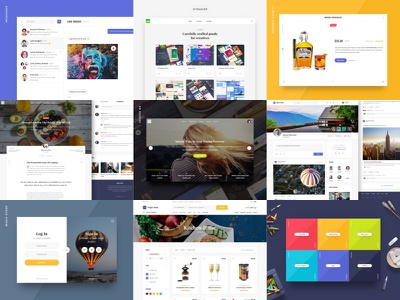 The Best Nine of 2016 colorful ecommerce ui kit best shots interface ui best nine