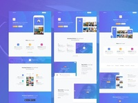 AppStarter UI Kit for Sketch blue landing sketch app user interface ui kit ui