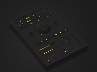 Nuclear UI ui interface kit pack dark black yellow red slider button controller player checkbox radio switch