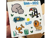 Children's Book sticker sheet