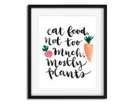 Eat Food - Lettering Illustration