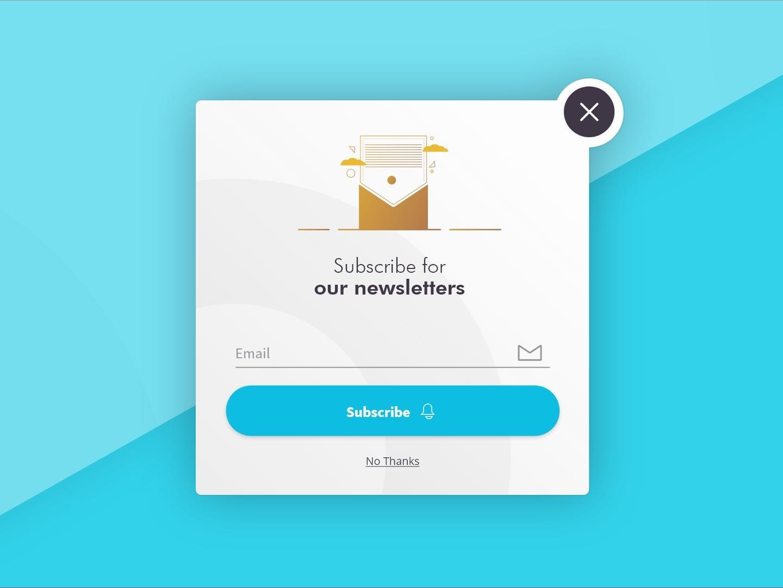 Subscribe form ui dailyui
