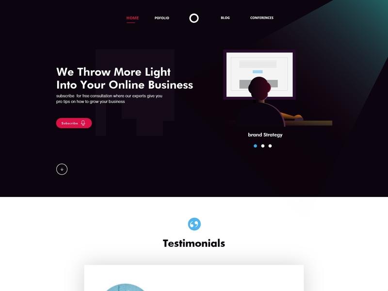 Agency ui design concept design web dailyui ui