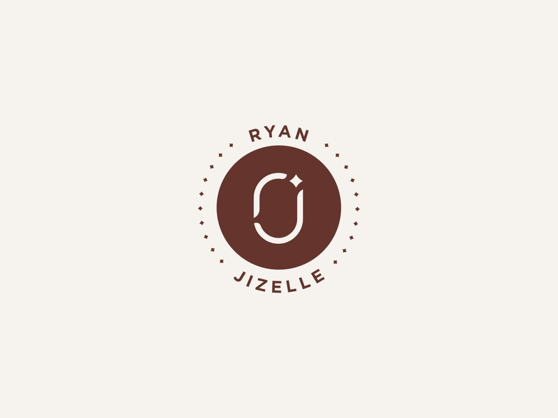 Ryan & Jizelle - Badge invitation circle star love marriage emblem badge brand identity logo mark o j r jizelle ryan wedding
