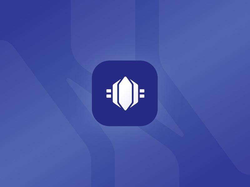 Wikidig Card Game Logo gamification gemstone gems crypto currency economy purple digital app game cards identity brand mark icon logo