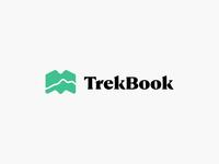 Travel Log App –TrekBook trekking product mobile illustration identity logo brand icon green serif journal trail map application app log travel book trek trekbook