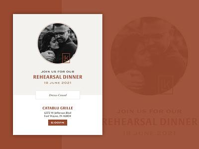 Digital Rehearsal Invitation invite text design digital vintage typography type rehearsal wedding social invitation
