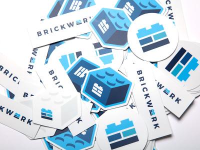Brickwork Stickers system collateral project brickwork lego bricks stickers icon branding brand mark illustration design visual identity identity logo