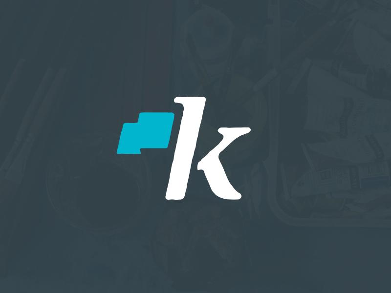 Kingdom Life Church rough wave k serif movement flag identity logo brand church life kingdom