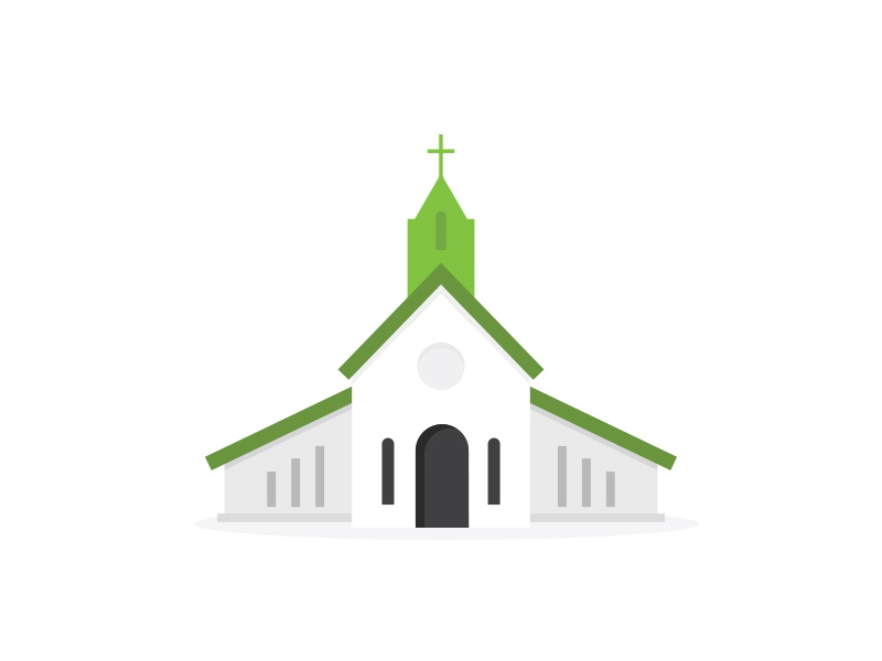 Church Building illustration minimal brand logo magazine print editorial vector icon graphic building church