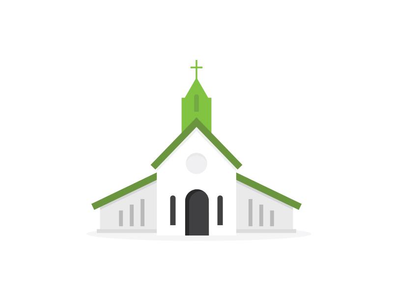 Church Building illustration minimal brand logo magazine print editorial vector icon graphic building church