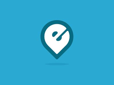 E Logo icon clean seed mark water pin identity logo brand church life emmaus