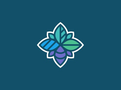 Four Leaves icon season healthcare health non-profit brand logo pattern leaf leaves