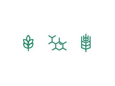 AgroChemical Icons set icons grass farming green agriculture biology hex plant wheat farm chemical
