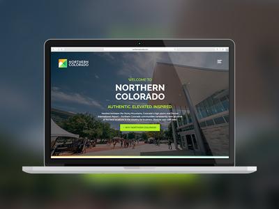 Northern Colorado Site site grotesque orange square green gradient abstract mountain logo mark brand colorado