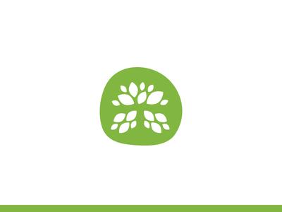 T Leaf Logo logo negative space tree green organic icon brand leaf t tea