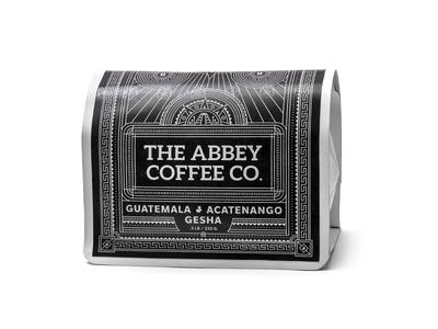 Coffee Packaging vintage pattern mayan guatemala packaging print design bag gesha coffee craft abbey